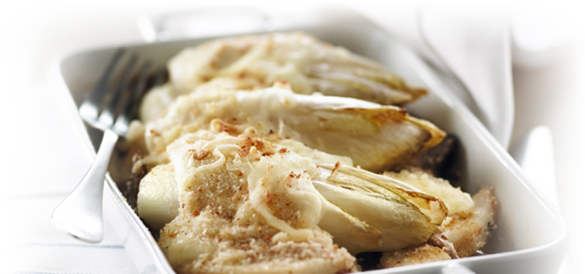 Endive and duck gratin
