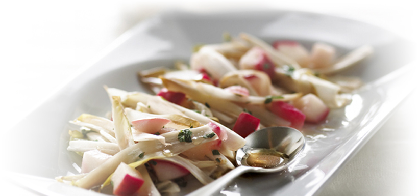 Braised endives with apple and honey
