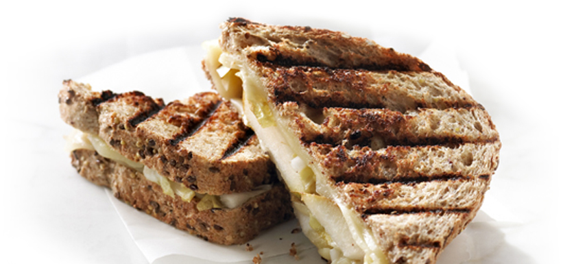 Endive and pear grilled cheese sandwich